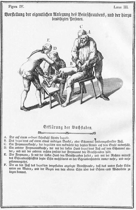 Theresiana Beinschrauben2 - Unterweisungen zum Folterverbot